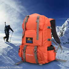 50L Large Outdoor Backpack Hiking Mountain Bag Camping Travel Pack Waterproof