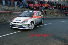 Carlos Sainz Ford Focus RS WRC 02 Monte Carlo Rally 2002 Photograph 1