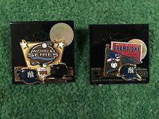 """ Peter David New York Yankees Pin Coillection World Series 100 Pins"".2 Pin Lot."