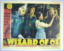 80's Vintage ☆ Wizard Of Oz ☆ Judy Garland ++ ☆ Lobby Card Poster Litho (Ver. 3)