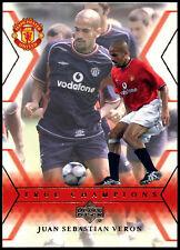 Juan Sebastian Veron Man. United #127 Upper Deck 2001 tarjeta de comercio de fútbol (C361)
