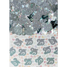 25th Birthday / Silver Wedding Anniversary Party Table Confetti Decorations