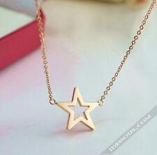 Damen Gold 18k Halskette mit Anhänger Collier Kette Karat Stern Damen Kind 34€