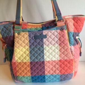 Vera Bradley TROPICS PLAID Glenna Satchel, purse, shoulder bag, tote