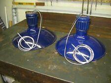 Abolite Cobalt Blue Porcelain Barn Lights