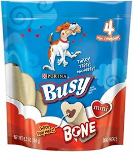 Purina Busy Bone Mini Dog Treats (8) 6.5 oz., 4 ct. Pouch