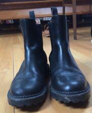 J. Crew Women's Slip On Ankle Boots US Sz. 8D Black Vintage Chelsea