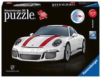 Ravensburger 3D Puzzle PORSCHE 911 R weiss 108 Teile ohne Klebestoff