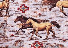 """2 yards """"Sundance Horses"""" Tan  Fabric"""