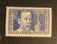 France 1936-37 1.50fr + 50c Louis Pasteur semipostal Sc B53 MLH SCV $20
