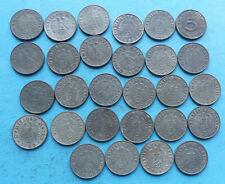 ! DRITTES REICH worldwar II 28x different verschieden , 5 Pfennig 1940 - 1944