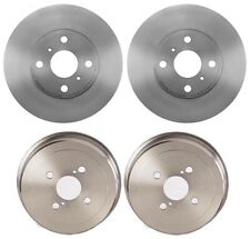 Front Brake Disc Rotors Coated Rear Drums Kit Brembo For Corolla Chevy Geo Prizm