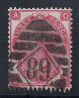 Großbritannien 1867 Mi. 28 Gestempelt 80% 3 Pence, Königin Victoria, A, G.