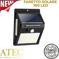ATEC - Faretto Solare da Esterno IP65 (1PZ Faretto 100 Led)