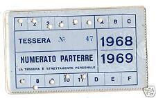 BASKET  PALLACANESTRO  TESSERA  ABBONAMENTO  SIMMENTHAL  MILANO  1968-69