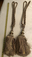 "Gold Drapery Tassel Tie Backs Large 28"" Set of Two"