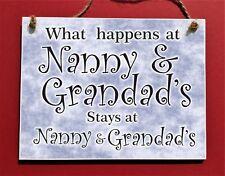 Nanny and Grandad's token gift  , Christmas present from Grandchildren 13x 17 cm