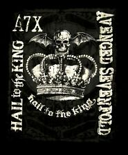 AVENGED SEVENFOLD cd lgo HAIL TO THE KING CROWN Official SHIRT LRG new