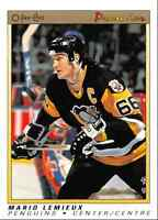 1990-91 O-Pee-Chee Premier Mario Lemieux Pittsburgh Penguins #63