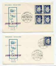 GERMANY JOHN F. KENNEDY LOT OF FOUR FIRST DAY COVERS SINGLES & BLOCKS
