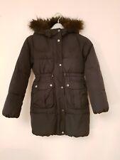 Girls's Black Hooded Showerproof Parka Coat. Gap Age 10 - 11