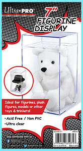 "ULTRA PRO 7"" FIGURINE DISPLAY CASE Clear Plastic Storage Beanie Baby Toy Box"
