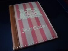 Juicy Couture pink striped fabric passport holder case.