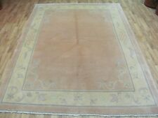 A FABULOUS OLD HANDMADE CHINESE ORIENTAL RUG (243 x 174 cm)