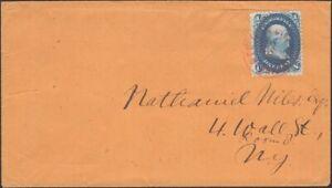 U.S., 1862. Cover 63b Bright Blue, PSE Cert, New York