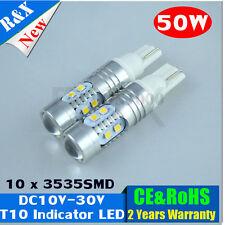 1x T10 W5W 50W LED Samsung Wedge Side Car Reverse Backup Light Lamp Bulb 10V-30V