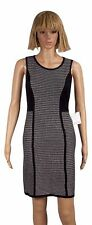Calvin Klein Petite Size PL Black Textured Colorblocked Knit Dress NEW