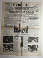 N318 La Une Du Journal Le populaire 8 février 1934 déclaration du parti