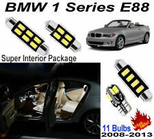 11pcs White LED Interior Light Kit For BMW 1 Series E88 Convertible Error Free