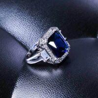 Damen Charm Saphir Strass Fingerring Braut Verlobung Hochzeit Ringe Schmuck 6-10