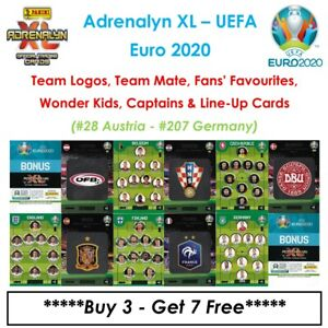 Adrenalyn XL - UEFA Euro 2020: Team Mates / Fan / Wonder Kids / Etc ~ #28 - #207