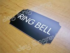 Engraved RING BELL 3x5 Black Door Sign   Small Business Home Office Wall Plaque