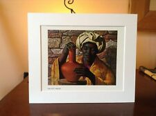 ORIGINAL RARE Tretchikoff The Pot Maker 1960s - Vintage Kitsch Mounted Art Print