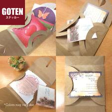 12 pcs Brown Kraft Paper CD DVD Heart Wedding Baby Shower 13cm Square Envelopes