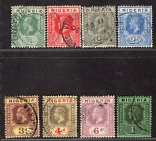 NIGERIA 1914/7 EIGHT USED STAMPS