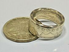 Canada LUCKY LOONIE Ring 2016 Canadian Dollar Coin Ring Hand Made in Canada