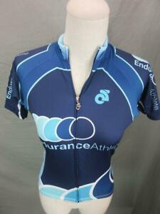CHAMPION SYSTEM SIZE XS WOMENS NAVY ATHLETIC FULL ZIP CYCLING JERSEY JACKET T353