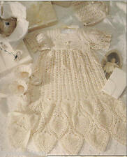 Christening Collection 1: baby gowns bonnets booties crochet patterns