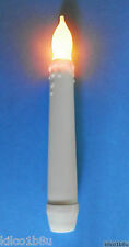 6 (SIX) Battery Operated Plastic LED Flicker Candle Stick Traditional, any room