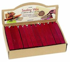 10 RED SEALING WAX STICKS WITH WICKS FOR POSTABLE WAX SEALS MANUSCRIPT