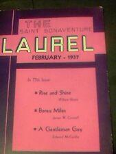 1937 The Saint Bonaventure Laurel February great Camel ad
