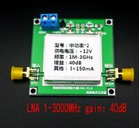 1-3000MHz 2.4GHz 40dB Low Noise LNA RF Broadband Amplifier Module HF VHF / UHF