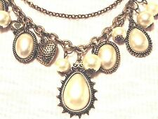 Statement Choker Chunky Collar European Style Baroque/Pearl Pendant Necklace
