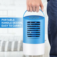 Portable Air Conditioner Personal Water LED Cooling Fan Bedroom Cooler 3 Speeds