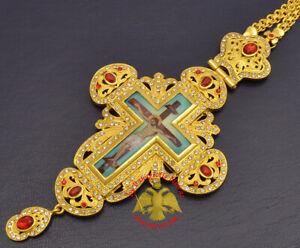 Orthodox Pectoral Crucifix Cross Collection Gold/Silver Plated Kruzifix Kreuz