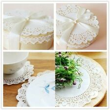100pcs Lace Coaster Placemat Cushion Mug Holder Tea Cup Pad Mat Wedding Party